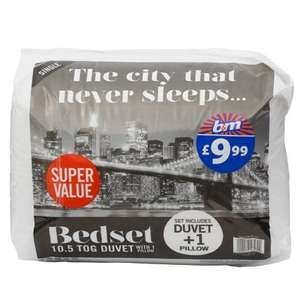 10.5 Tog Duvet Single or Double only £1.00 each @ B&M instore
