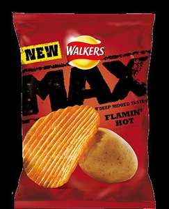 Walkers Max Flamin' Hot Flavour Potato Crisps 50g  19p or 6 for £1.00 @ Heron
