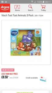 toot toot animals 3pk only £8.50 (less than half price)online at argos