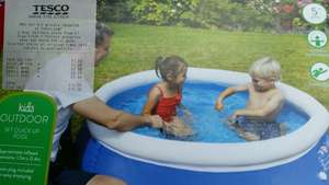 Kids Outdoor 5ft quick up pool. £2.60 @ Tesco (North Wales)