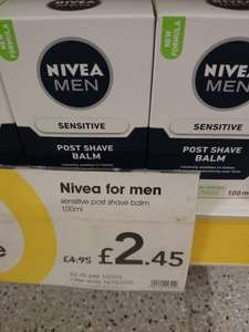 NIVEA PRODUCTS HALF PRICE @ Wilkinsons
