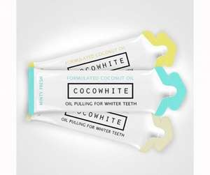 Cocowhite teeth whitening coconut oil, £28.11 for two packs @ Holland & Barrett