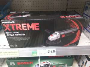 Powerbase Xtreme 750w Angle Grinder £16.99 was £22.99 - Homebase