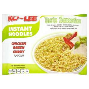 Ko-Lee Chicken Green Curry Noodles 8 for £1 or 20p each @ B&M Bargains