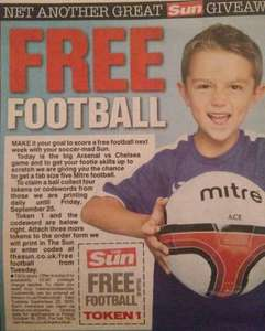Mitre Football with The Sun - pay £2.60 p&p