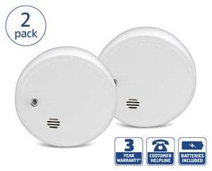 Kidde Twin Pack Smoke Alarm ( 3 Years warranty ) £7.99 @ Aldi
