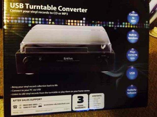 USB turntable converter / record player  in  Aldi £19.99