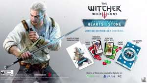 PS4 Witcher III 3 Hearts of Stone Expansion + Gwent Cards Limited Edition set £19.99/ PC £14.99 @ GAME