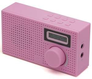 Kitsound Pixel Mini Portable DAB Radio and Alarm Clock (Pink or Blue) - £9.99 - eBay/UKTotallyGadgets