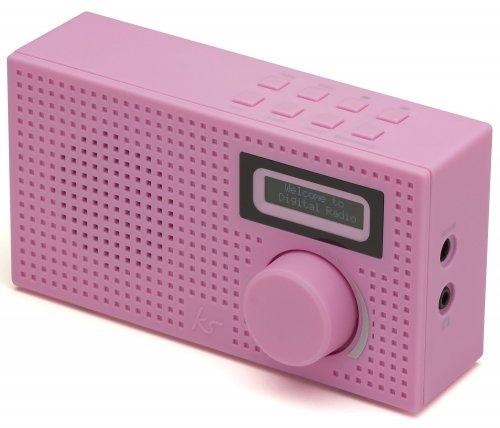 Kitsound Pixel Mini Portable DAB Radio and Alarm Clock (Pink or Blue) - £9.99 - eBay/UKTotallyGadgets