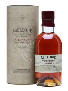 Aberlour A'bunadh Cask Strength Sherry-Monster Single Malt Whisky, reduced by £10 to £33.49 at Booths