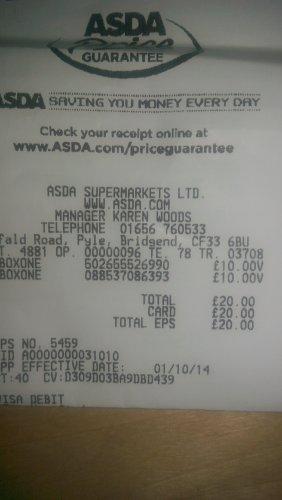 Xbox one games £10 ASDA instore