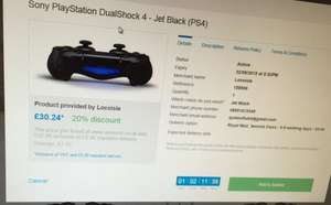 Brand new Sony PlayStation DualShock 4 - Jet Black (PS4) £37.80 Sold by EXTREME DEALS and Fulfilled by Amazon £30.24 using bespokeoffers.co.uk (Amazon compare)