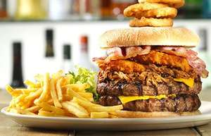 Flaming grill burger challenge with 40% off £6