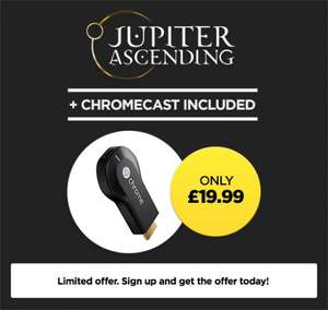 Chromecast and Jupiter Ascending for £19.99 @ Wuaki Tv