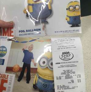 minions large foil helium balloons £1 & £2 @ Asda instore