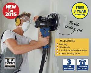 Drywall Sander. 720w, dust extraction system, 3 yr warranty.  £49.99 instore Aldi from Sunday 27th Sept