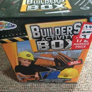 builders activity box Was £9.99 now £3.00 Found in store twenty one