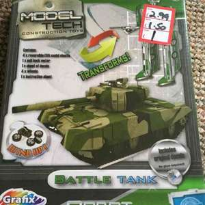 kids model tech construction toy battle tank was £2.99 now £1.00 at store twenty one