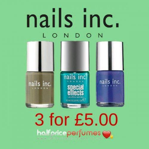 Nails Inc Triple Pack - £5 + £3.99 del (£8.99) @ Half Price Perfumes