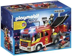 Playmobil 5363 City Action Fire Engine with Lights and Sound & Playmobil 5529 City Life Vet Clinic Delivered @ Amazon for £29.19