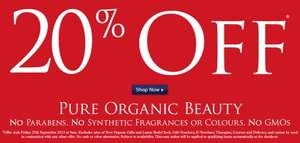 20% Off all orders at Neals Yard Remedies (Natural, Organic, Paraben Free Beauty)