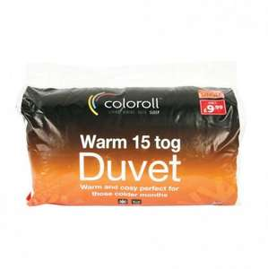 COLOROLL- 15 TOG DUVET £9.99 @ Poundstretcher