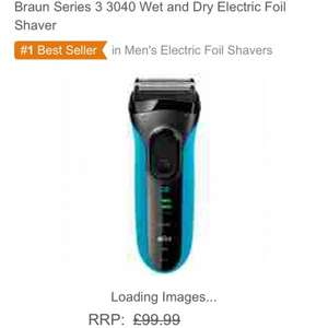 Braun Series 3 3040 Wet and Dry Electric Foil Shaver £33.00 @ Amazon