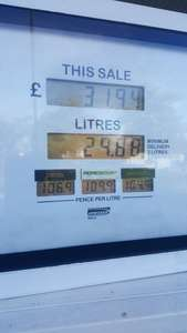 CHEAP FUEL @ TESCO 104.9 for Unleaded , 106.9 for Diesel using a clubcard