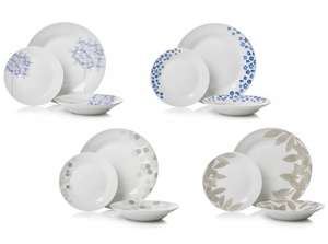 ** Sabichi 12 piece Dinner Sets (4 Designs) now £5 @ Wilko (Free CnC) **