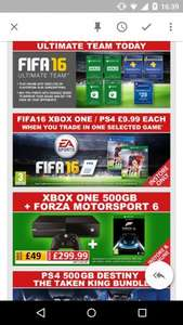 Trade in selected game in store at Smyths Toys and get FIFA 16 for £9.99