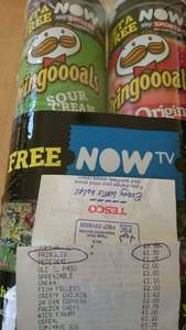 PRINGLES TWIN PACK with Free Now TV sports pass. Tesco's - £1.50