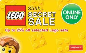 Secret Lego Sale at Entertainer, 25% off selected sets, from £8 @ The Toyshop
