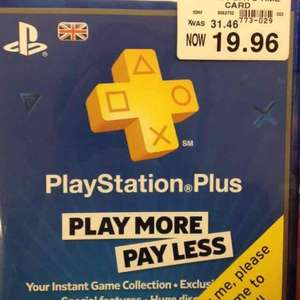 PS Plus 365 day time card -  £19.96 Toys R Us in store
