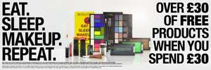 £30 Of Makeup When You Spend £30 At Makeup Revolution