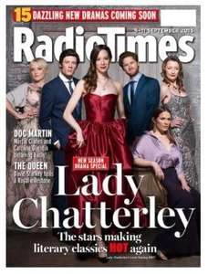 12 Issues of Radio Times Magazine Subscription (Inc Xmas Edition) - £1.00 - BuySubscriptions (£1.01 TopCashBack)