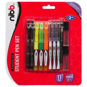 11 Pack Nibb Pens reduced to £0.50 and many more... @ B&M