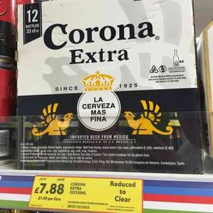 12 330ml bottles corona beer £7.88 @ tesco