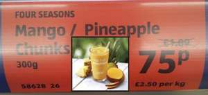 Frozen Mango or Pineapple 300g Great for Smoothies 75p only @ Aldi Nationwide