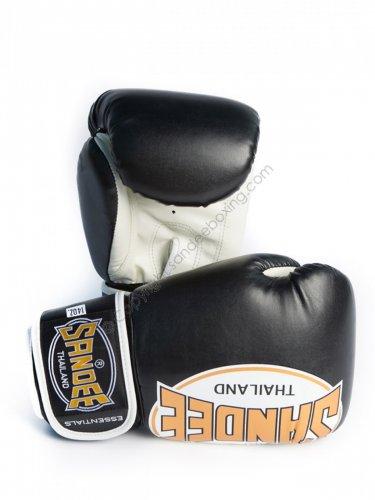 Sandee Essentials Synthetic Boxing Gloves - Black/Gold £34 @ Fightequipmentuk