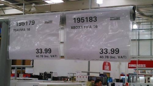 FIFA16 Ps4 and Xbox one £40. @ costco