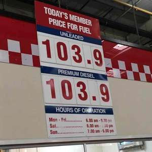 Costco Fuel 103.9p per litre