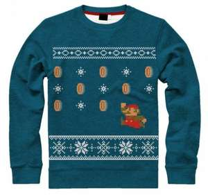 Offically licensed Super Mario Bros Blue Unisex Christmas Jumper £31.99 Delivered @ Merchoid
