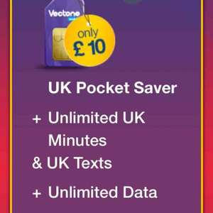 Vectone unlimited everything only £10 a month