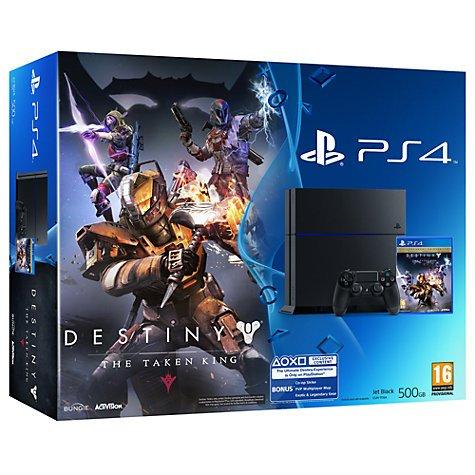 Playstation 4 Limited Edition Destiny TTK Bundle - £289.95 - John Lewis (image on website is wrong)