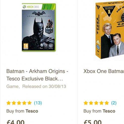Batman Arkham Origins Exclusive Edition Xbox 360 £4 @ Tesco Direct + FREE C&C