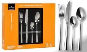 Grunwerg 24 or 48 piece contemporary cutlery set @ Groupon £13.98 delivered