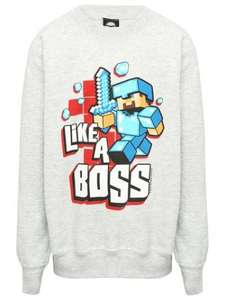 Kids Minecraft jumpers and shirts £11 @ mandco