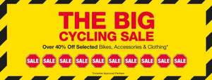 big cycling sale at halfords  upto 75% off