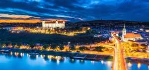 2 nights in the Slovakian capital in a four-star Falkensteiner Hotel + 25 Min Massage each + vintage train excursion and breakfast WITH flights from £84.99pp! @ Travelbird / Ryanair